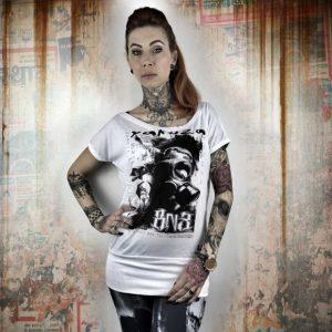 RESPIRATOR dámske tričko GSB 10109 White 19deccf153