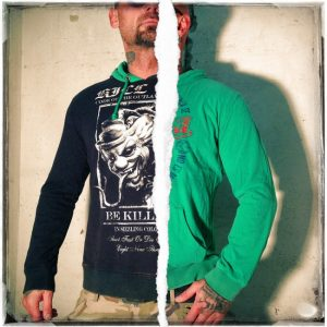 Reversible Hoodie HOB 530W black  green 2f22ea5630