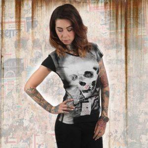 4faf550263d5 MEMENTO V NECK dámske tričko GSB 12101 Black