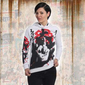 JAPANESE FLEX HOODIE dámská mikina GHOB 13102 white 41d3ae2edc3