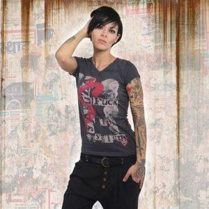 b732d783ff52 FTS V NECK dámske tričko GSB 13132 ebony